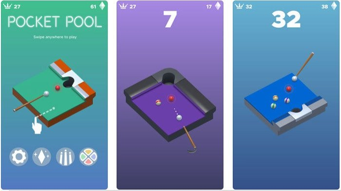 Az yer kaplayan oyunlar Pocket Pool